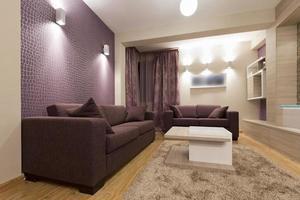 modern lyxig lägenhetinredning foto