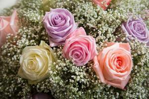 bröllop bord blommor foto