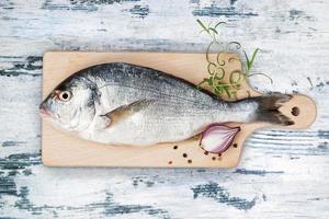 färsk fisk. foto