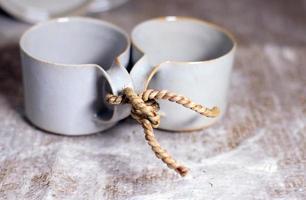 te och liv för två foto