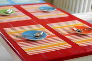 bordsinställning på restaurang foto