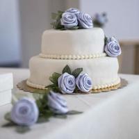 dekoration på ett bröllop bord foto