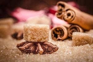socker och kryddor foto