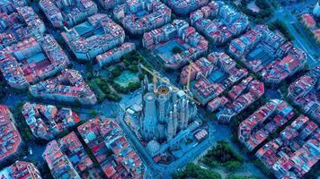 Flygfoto över Barcelona