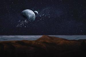 djup rymdsillustration foto