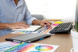grafisk designer på jobbet