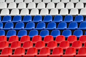 platser i färgerna på den ryska flaggan foto