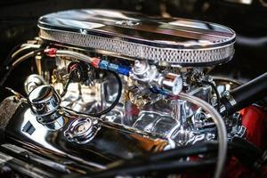 närbild av motorn foto