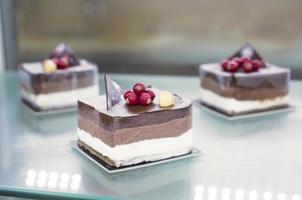 selektivt fokus foto av desserter