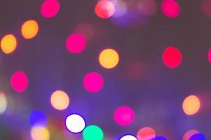 defokuserade ljus i staden på natten