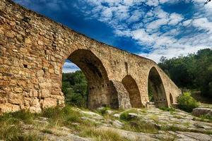 gammal romersk bro foto