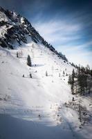 snö på berget foto