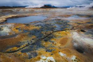 giftigt landskap på Island foto