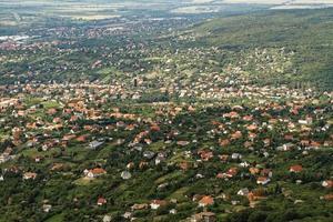 Flygfoto över förorten foto