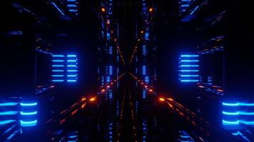 högteknologisk dataserverportal 3d