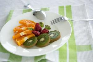 frukt tallrik maträtt