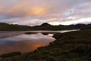 solnedgång på en sjö