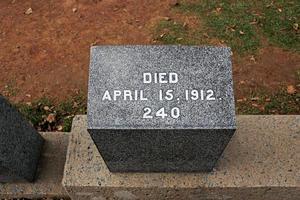 gravsten för ett av offren för titanic, halifax