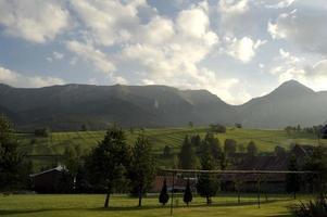 landsbygdens berg i Slovakien foto
