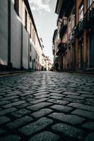 svart tegelväg foto