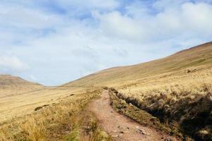 stig på en kulle under dagen foto