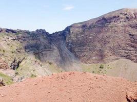 vulkanisk krater i Italien foto