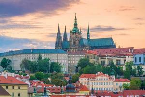 Prag stadshorisont foto