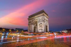 Arc de Triumph Paris Frankrike foto
