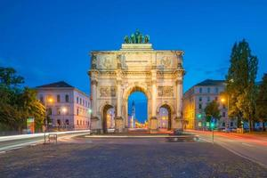 Siegestor triumfbågen München Tyskland foto