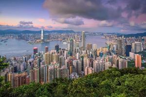 victoria hamn i Hong Kong foto