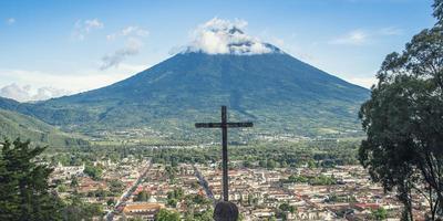 Flygfoto över en guatemala foto