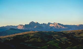 schlern berg i Italien foto