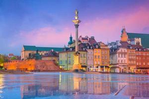 gamla stan i Warszawa, Polen foto
