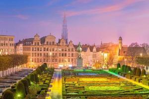 Bryssels centrum stadssilhuett