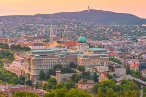 Budapests silhuett, Ungern foto
