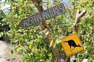 handmålade skyltar i Australien foto