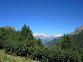 bergslandskap i schweiz