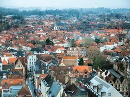 Flygfoto över stadsbyggnader
