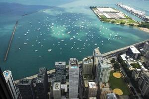 Flygfoto över Chicago