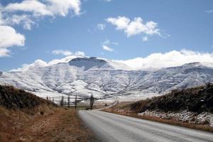 snötäckta berg i Sydafrika