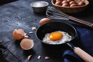 stekt ägg i pannan foto