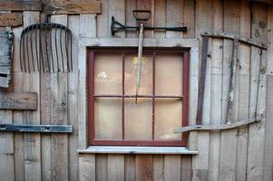 gammal rustik vägg
