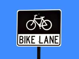 cykelfält tecken