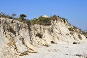 stranderosion efter orkanmatteus foto