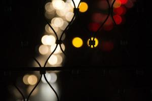 färgglad ljus bokeh foto