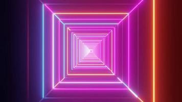 prismatisk oändlighet 4k, 3d tunnel bakgrund