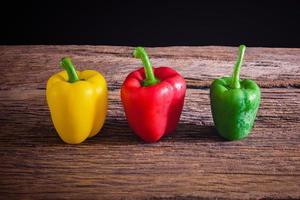 färgade paprika foto
