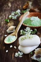 aromatisk tvål och salt foto