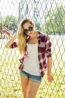 trendig hipster tjej foto