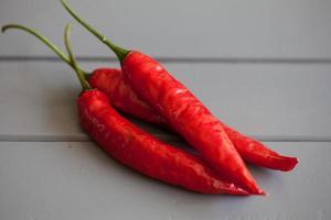 röd het chili foto